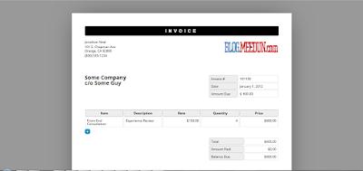 Membuat Faktur atau Invoice kombinasi antara  HTML5 dan Javascript