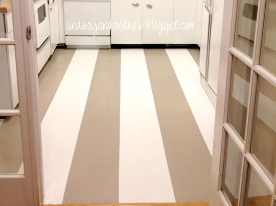 Lindsay drew painting a linoleum floor for Paint over vinyl floors