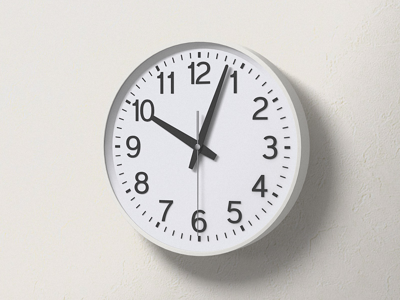 ウォールクロック (壁掛け時計) - Clock 3D object