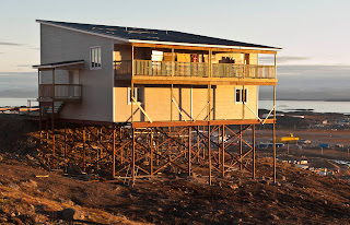 This new house is nearing completion on Iqaluit's