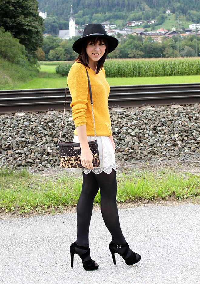 outfit trend fashionblogger senfgelb takko hm spitze highheels mango clutch leopard 02
