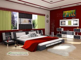 Desain konsep kamar tidur modern minimalis