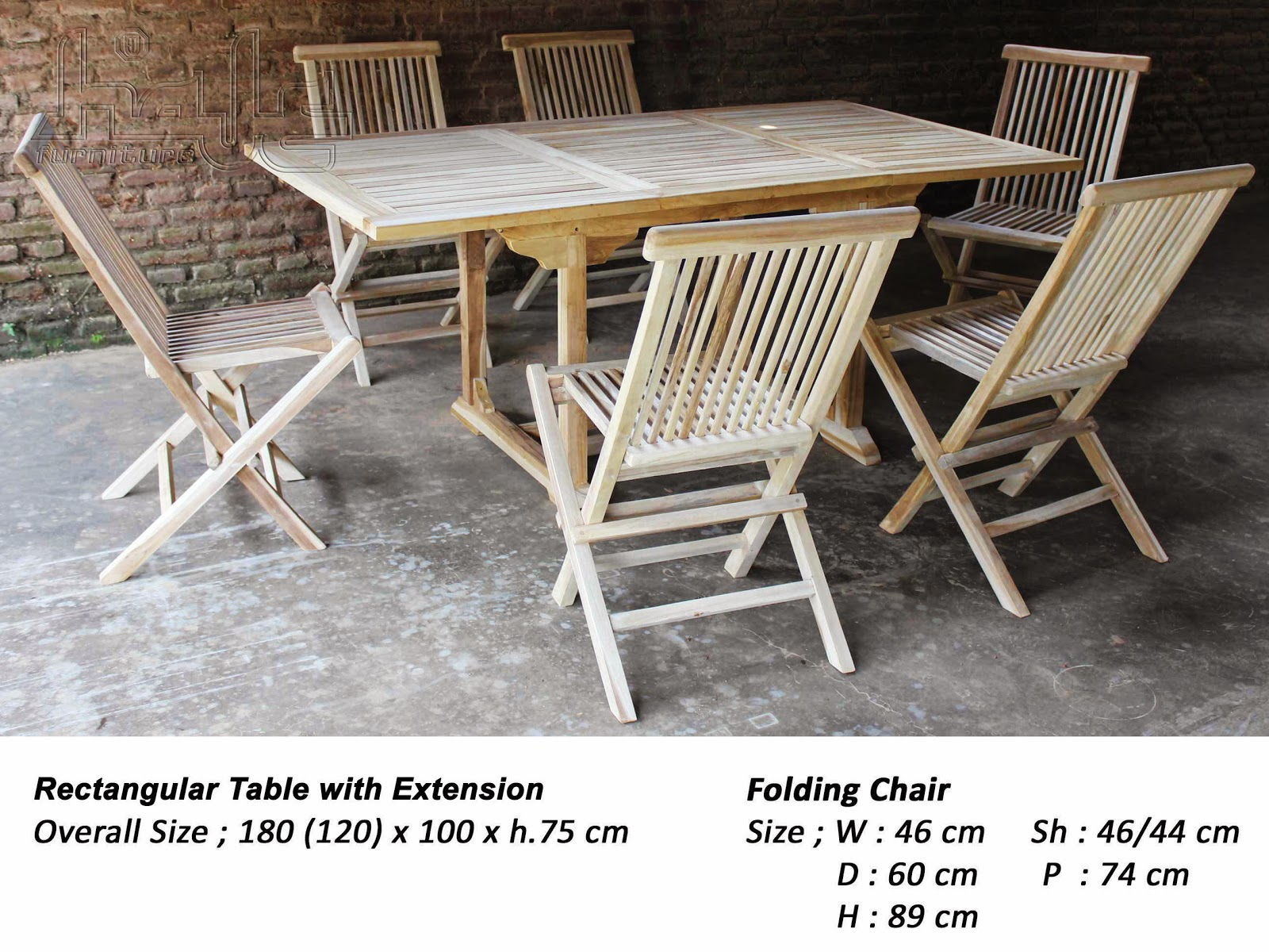 rect table - folding chairs