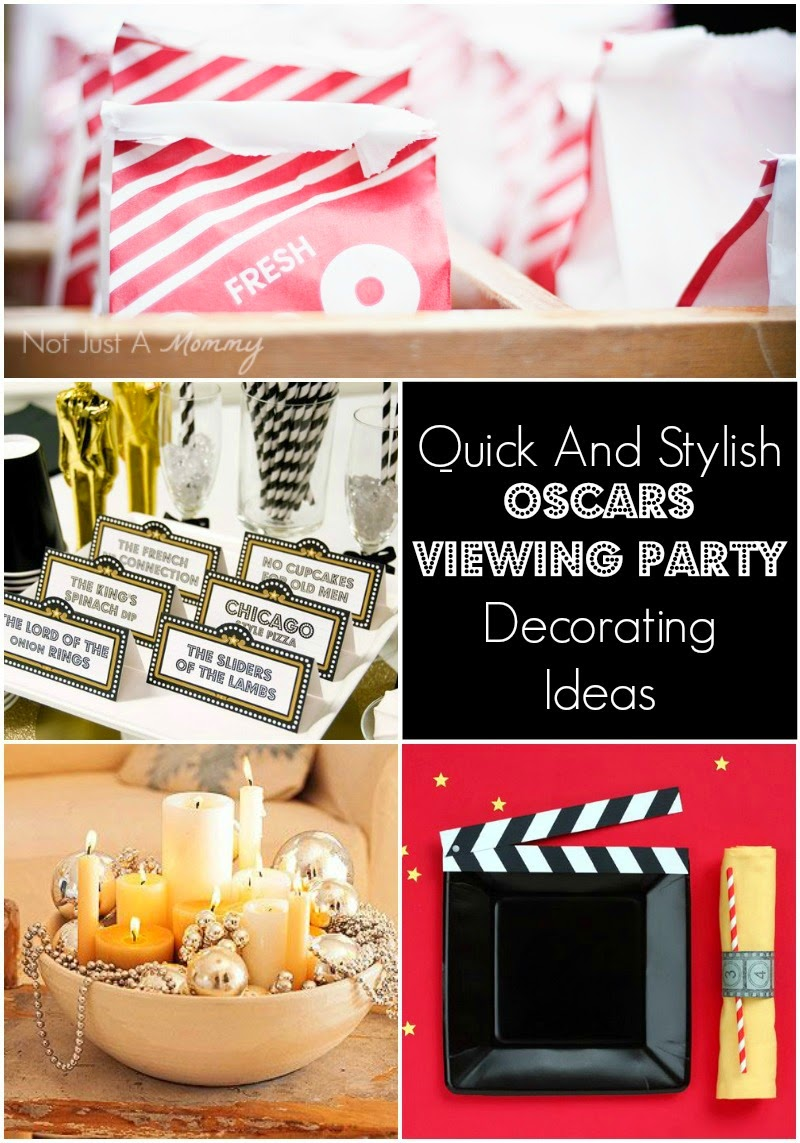 Quick And Stylish Oscars Viewing Party Decorating Ideas