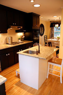 black kitchen cabinets design picture