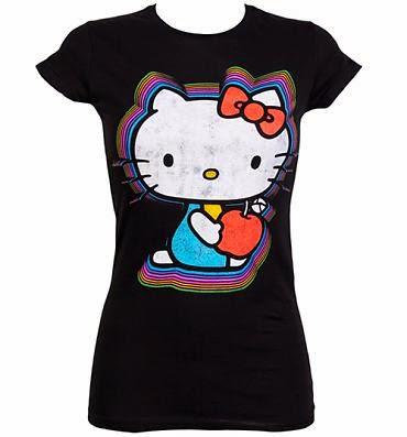 Gambar Baju Hello Kitty Kaos Warna Hitam Lucu