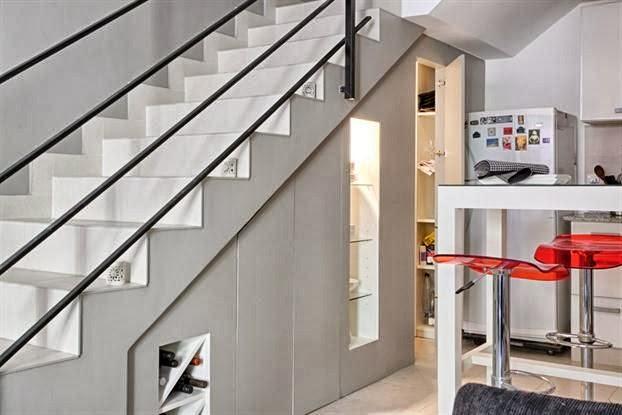 Aprovechar el hueco de la escalera oasisingular for Escalera de cocina