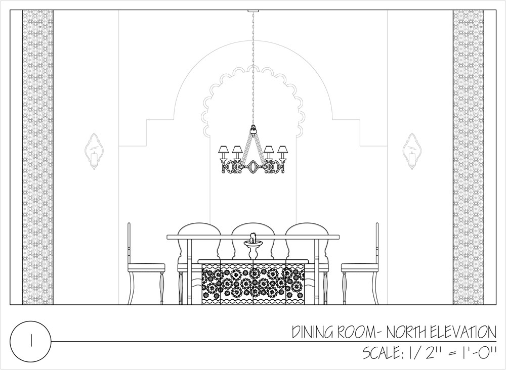 personified interiors ForDining Room Elevation