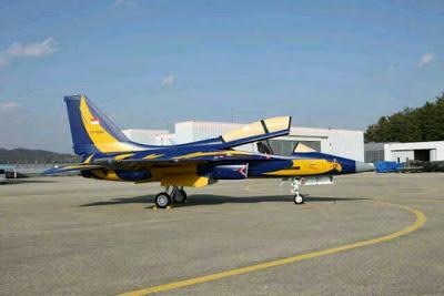 Tim Aerobatic TNI AU Mengunakan Pesawat Tempur Latih T-50 dari Korea Selatan