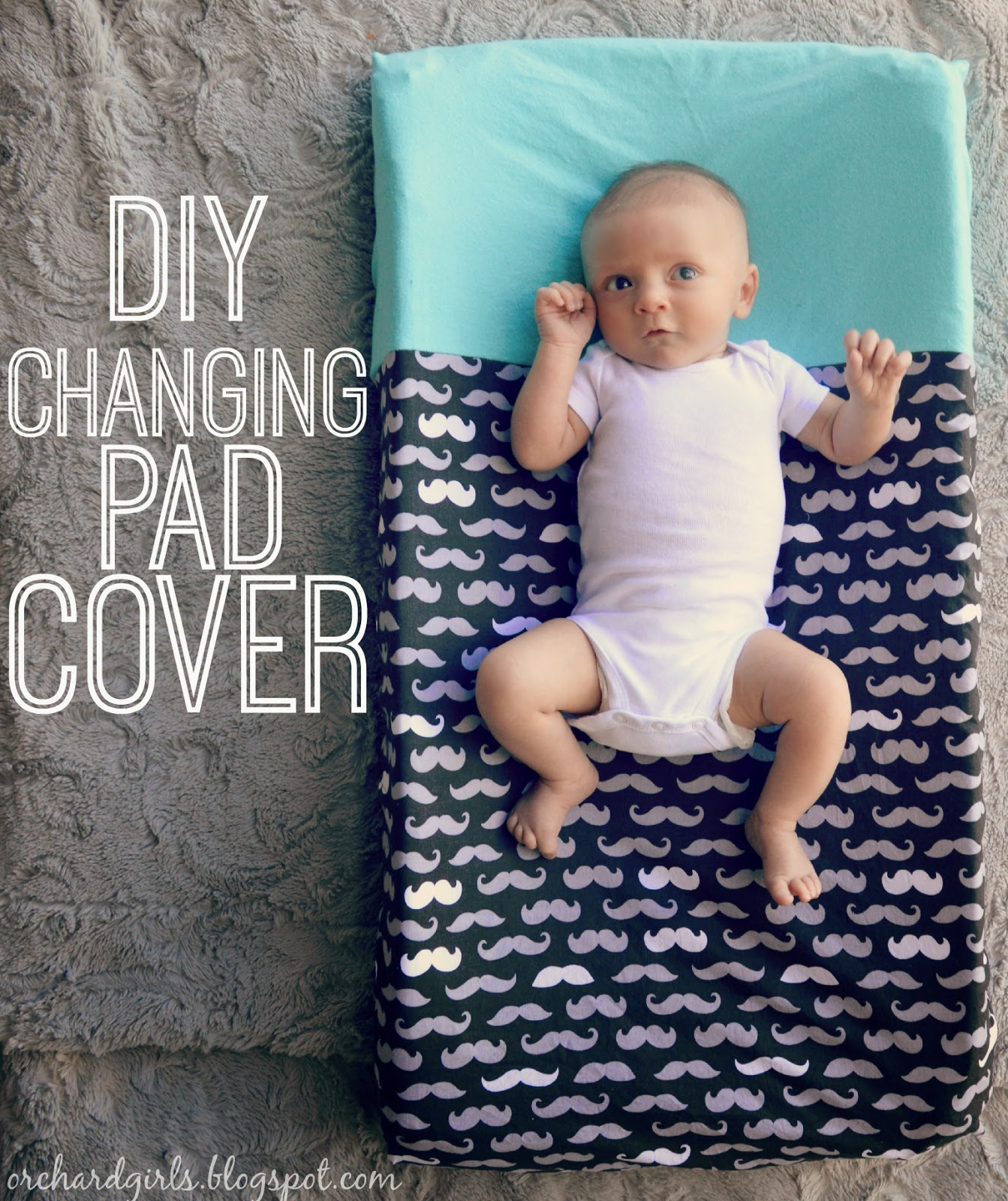 DIY Changing Pad Cover by Orchard Girls