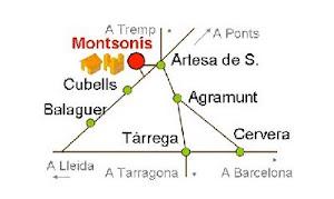 com arribar a Montsonís