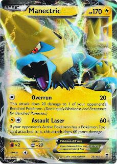 Manectric EX Phantom Forces Pokemon Card