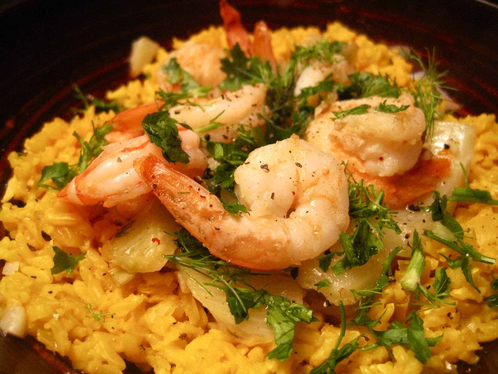kvell in the kitchen fennel u0026 garlic shrimp with yellow rice