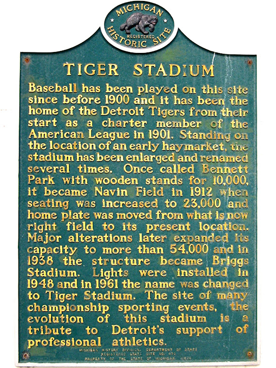 Tiger Stadium Historical Marker