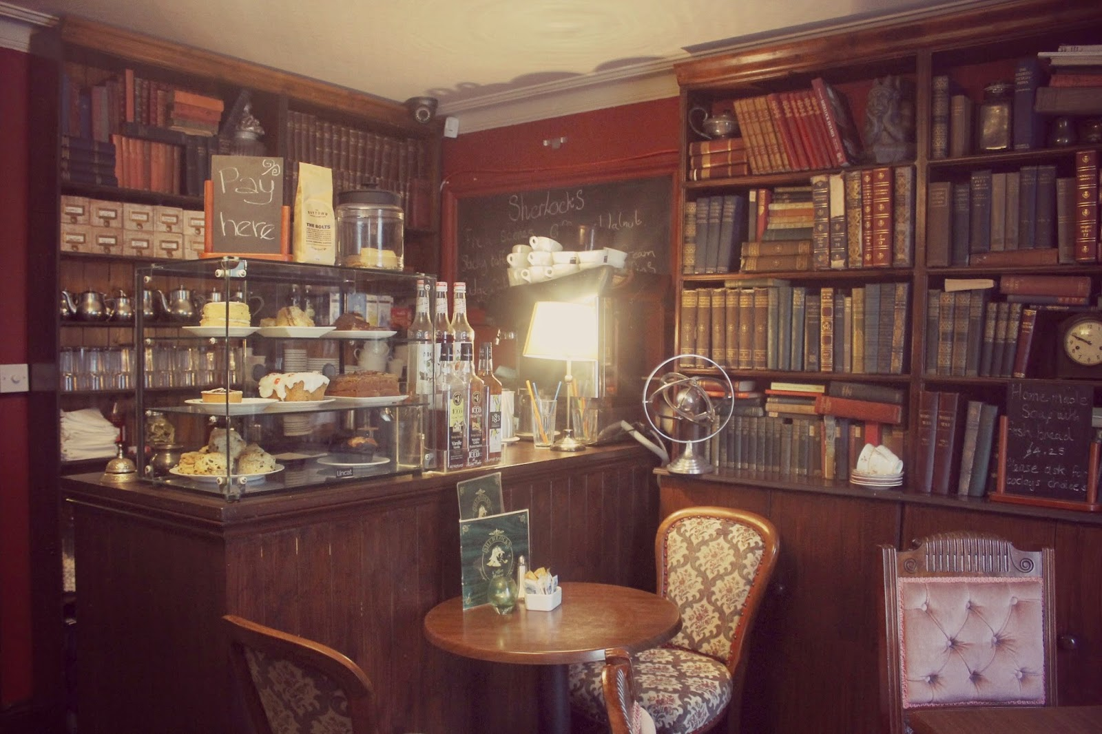 Sherlock themed cafe
