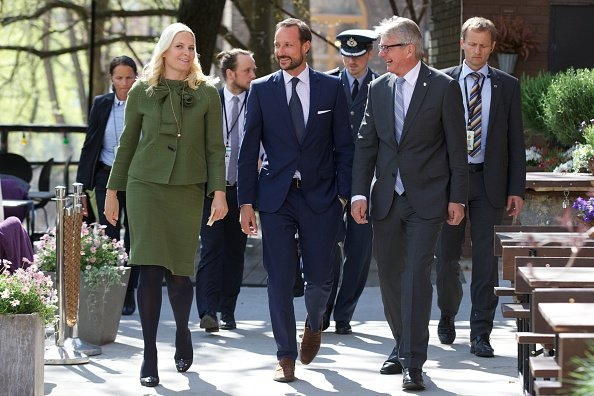 Crown Princess Mette-Marit of Norway and Crown Prince Haakon of Norway and the Mayor of Oslo Fabian Stang attended the 25th anniversary of CICERO