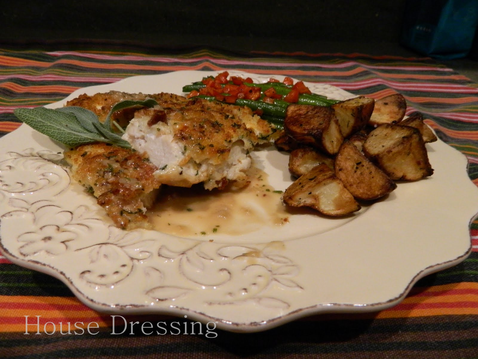 Houses Dressing Parmesan Crusted Chicken With Sage Sherry