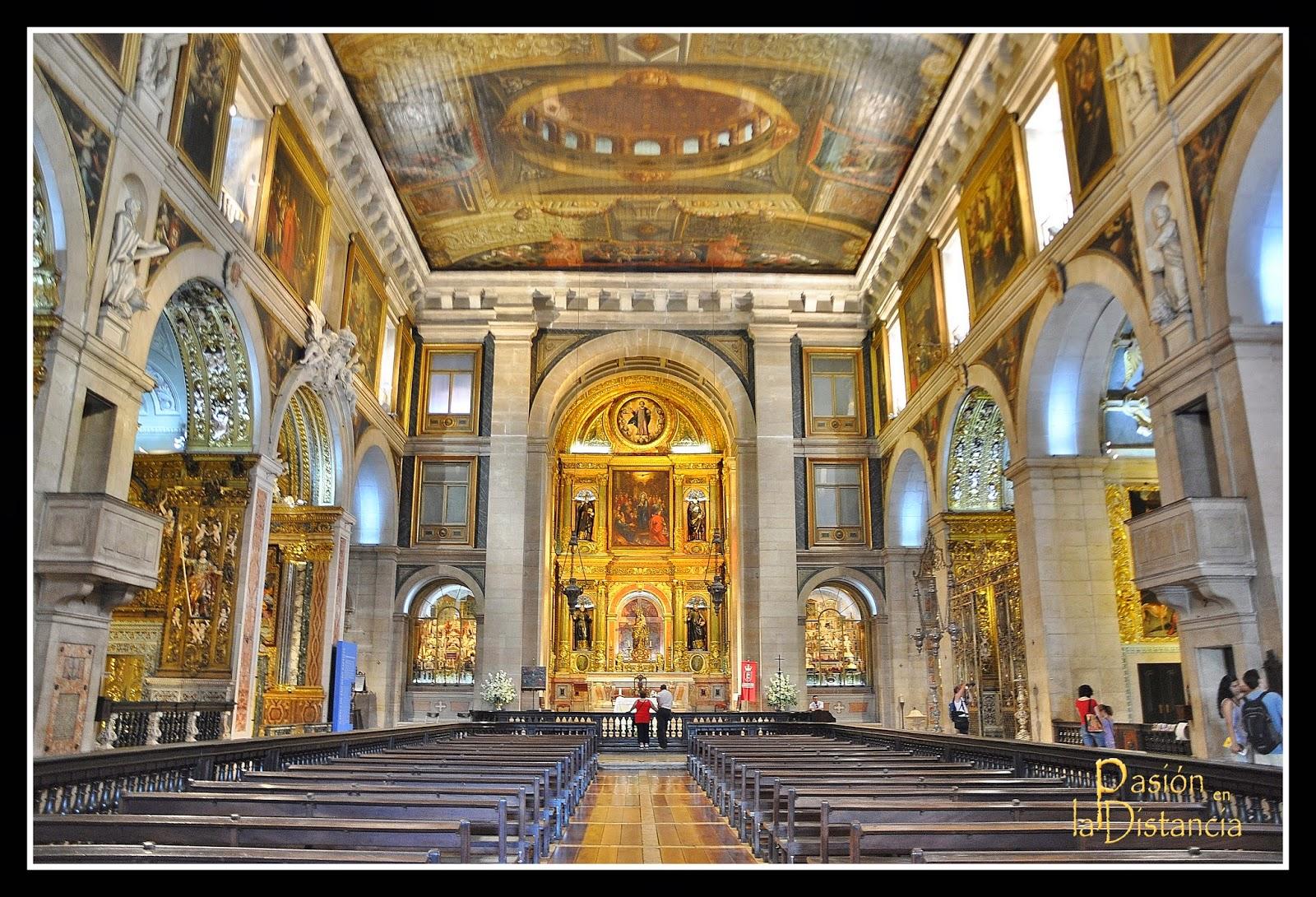 Interior de la Iglesia de San Roque Lisboa Portugal