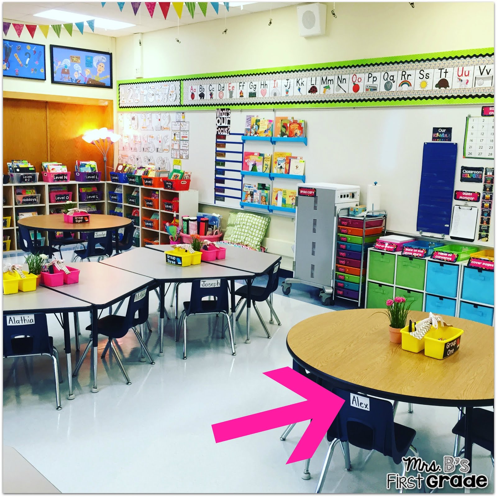 Classroom Decor Grade 1 ~ Simple start to flexible seating for young learners mrs