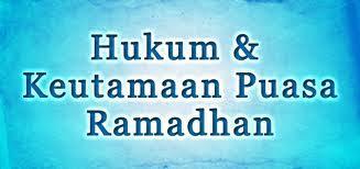 Lima Keutamaan Puasa Ramadhan