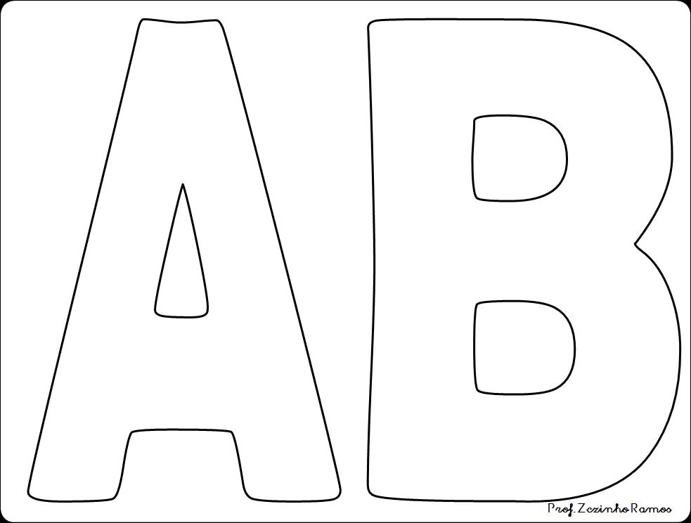 Blog professor zezinho molde de letras grandes - Letras para letreros grandes ...