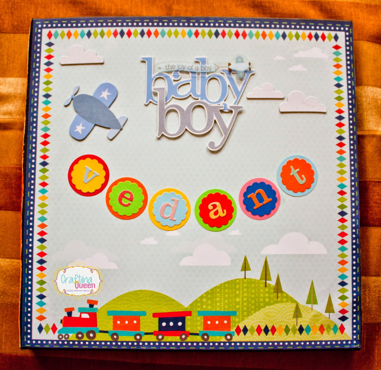 Crafting Queen Baby Boy First Year Scrapbook Vedant