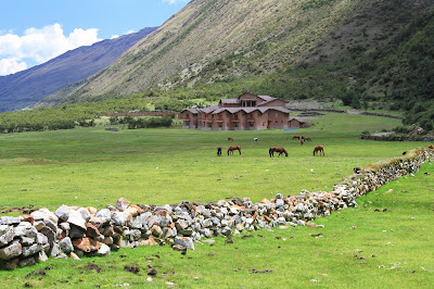 View of Salkantay Lodge (12,705 ft)