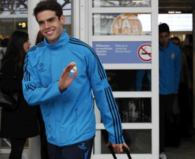 Kaka with the Real Madrid training wear