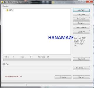 Free ISO Creator, hanamaze