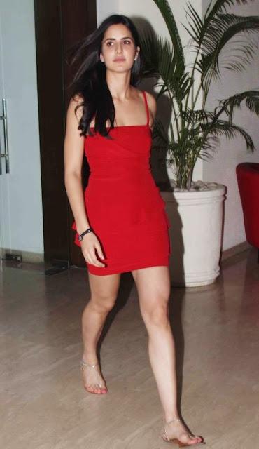 katrina kaif spicy in red dress latest photos