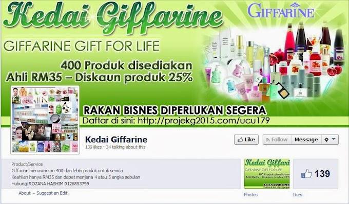 Tempahan Design Facebook Cover Photo : Kedai Giffarine