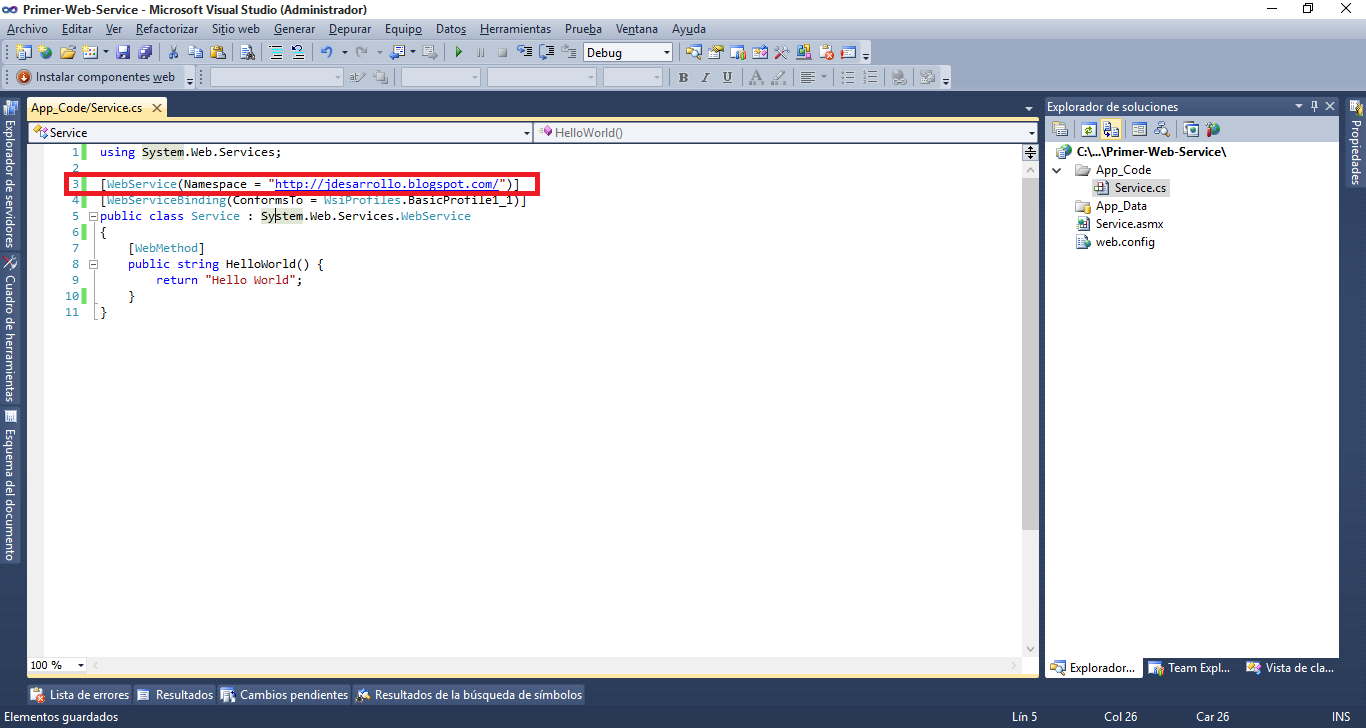how to add web service in visual studio 2010