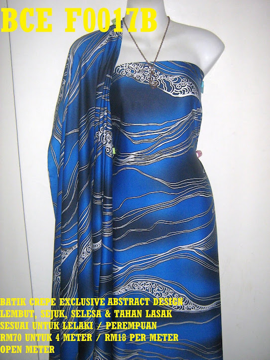 BCE F0017B: BATIK CREPE EXCLUSIVE ABSTRACT DESIGN
