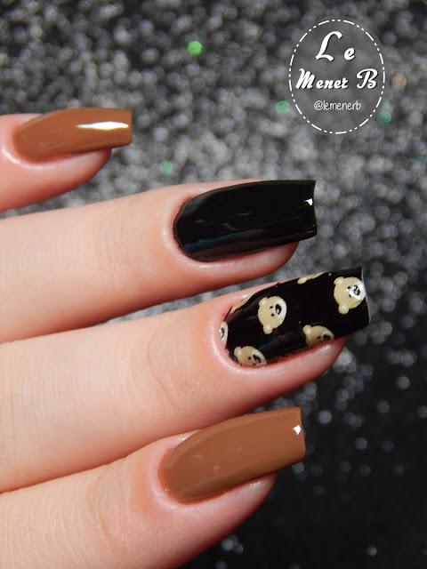 ursinhos nail art