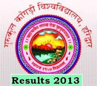 Gurukul Kangri University Haridwar Uttarakhand Results 2013