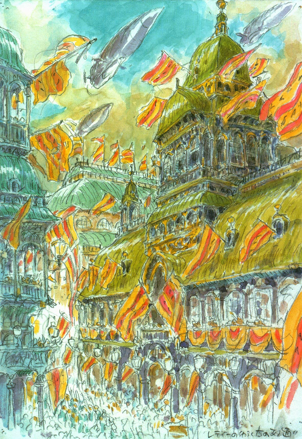 Howls Moving Castle Concept Art Living lines library: ハウルの ...