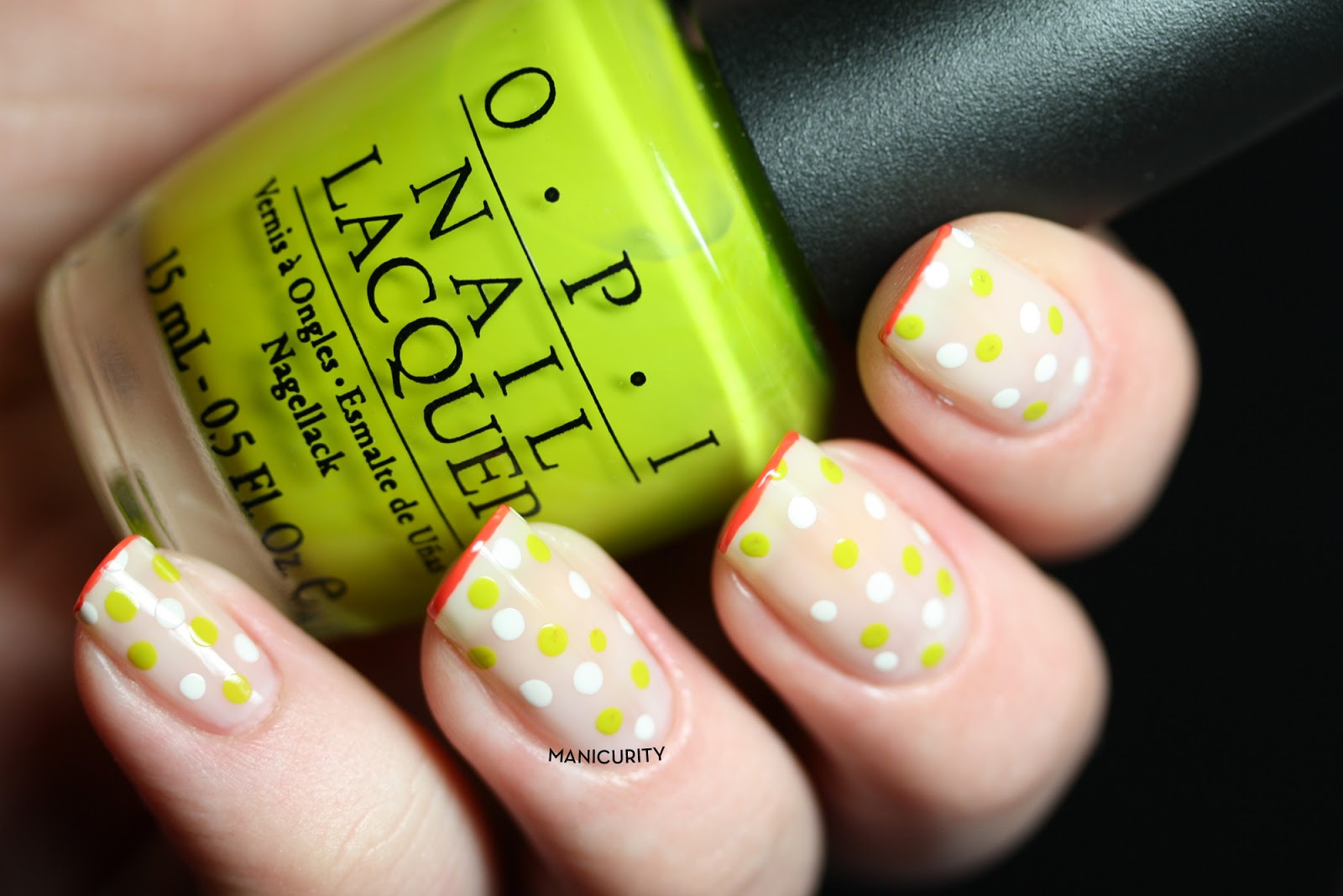 Manicurity: Tri-Polish Challenge: Springy Sheer Dotticure