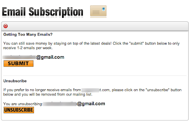Fist step of unsubscribe process. Just reduce the number of maills