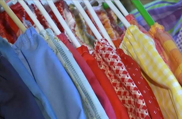 She's made more than 840, and aims to make 1,000 by her 100th birthday - 99-Year-Old Lady Sews A Dress A Day For Children In Need