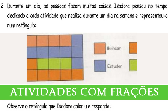 ATIVIDADES COM FRACAO