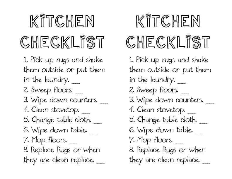 restaurant kitchen cleaning schedule - Khafre