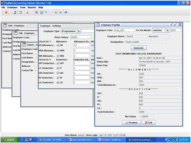 how to make payroll system in visual basic