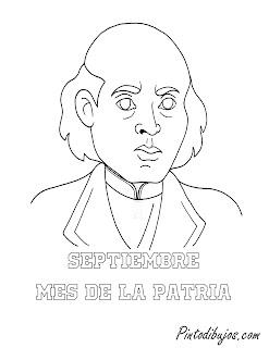 Septiembre Miguel Hidalgo para colorear