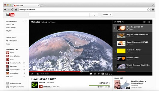 YouTube's Interface