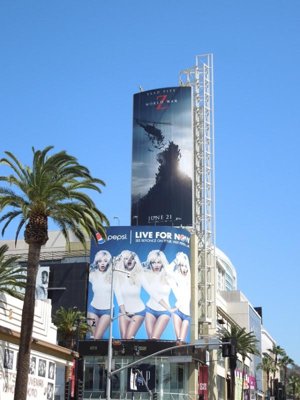 World War Z film billboard