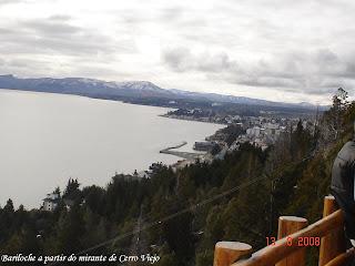 Vista da cidade de Bariloche desde o mirante do Cerro Viejo.