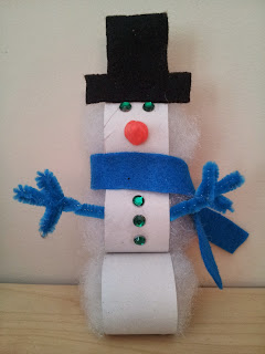 Toilet roll snowman craft, Christmas craft, kids craft