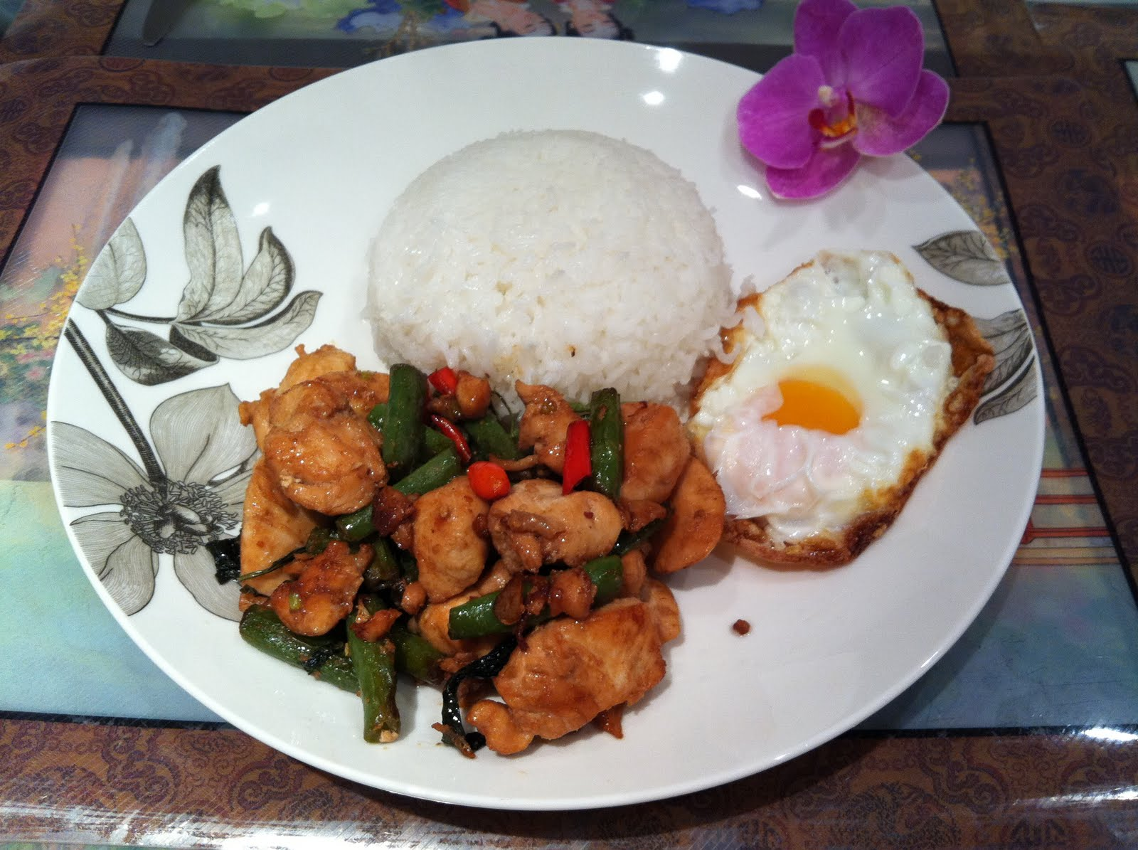 Thai-Style Stir-Fried Chicken And Basil Recipe — Dishmaps