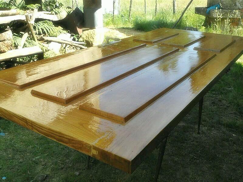 Carpinteria extrema empezamos con los trabajos de verano - Pintura para madera barnizada ...