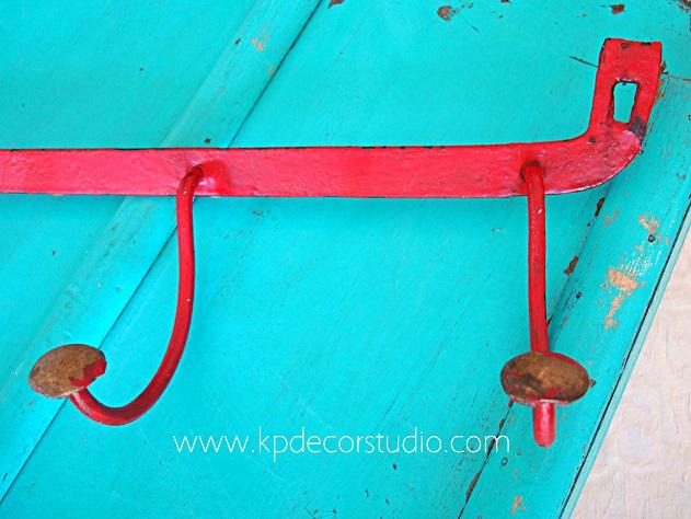 Tipos de percheros antiguos de forja-latón-varios colgadores